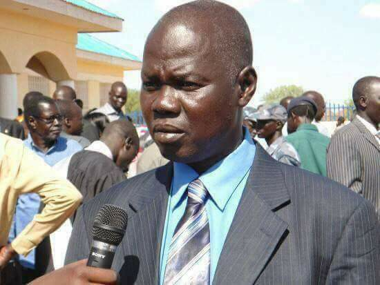 Mr. Victor Atem Atem,  the governor of Gogrial state