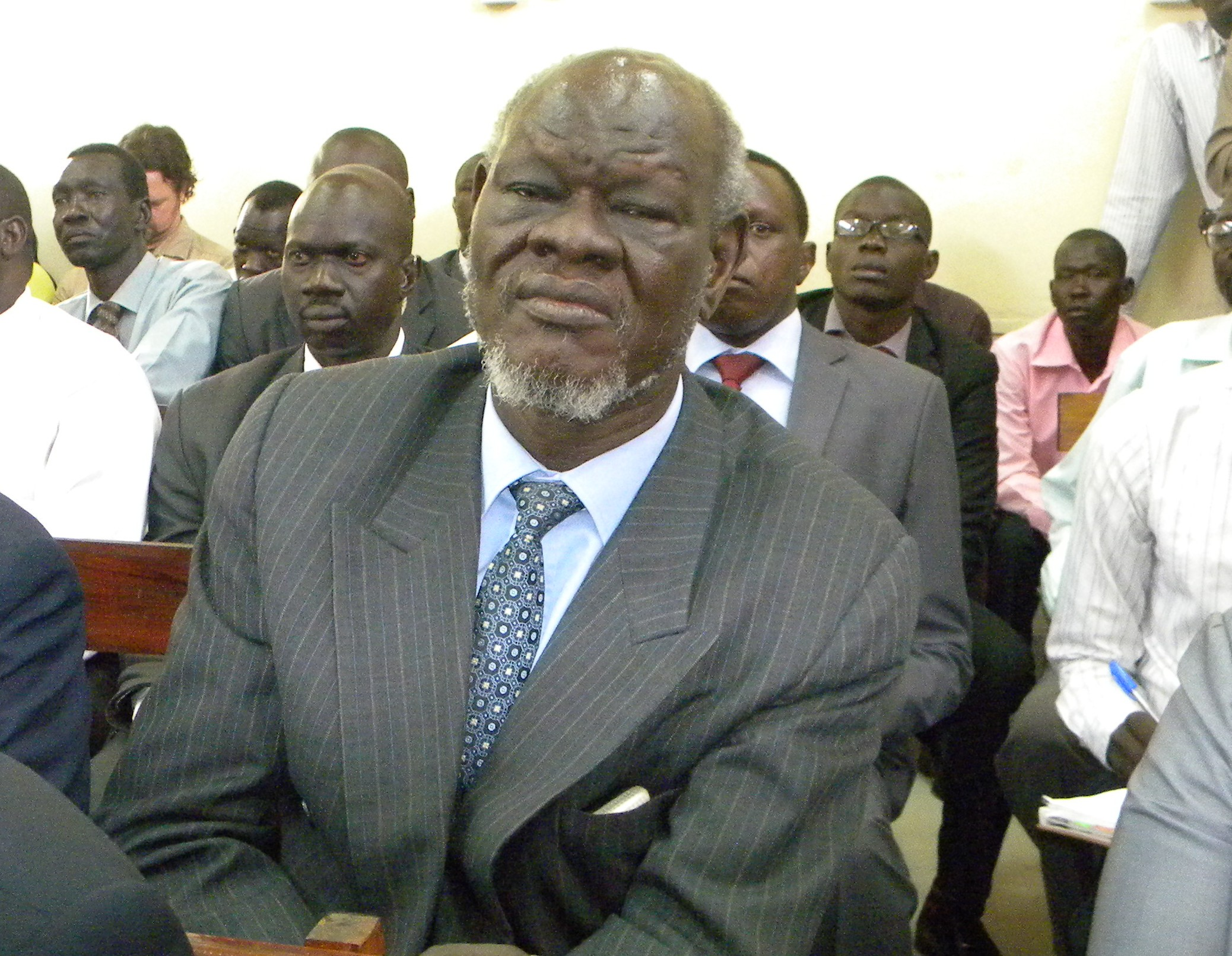 Dr Peter Adwok Attending the Court Session in Juba (Copyright Denis Dumo)