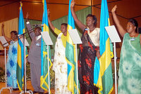 Rwandan members of parliament taking oath of office